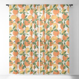 Oranges and Lemons Sheer Curtain