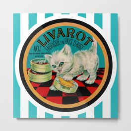 Kitty & French Cheese Metal Print