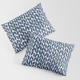 Hand Knit Zoom Navy Pillow Sham