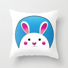 Chubby Bunny Throw Pillow