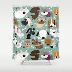Dog pattern Shower Curtain
