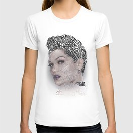 Typographic Portrait Jessica Cornish T-shirt