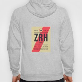 Baggage Tag E - ZRH Zurich Kloten Switzerland Hoody