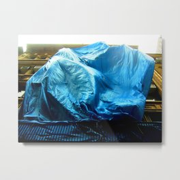 Billowing Blue Tarp 14 Metal Print