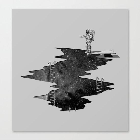 Space Diving Canvas Print