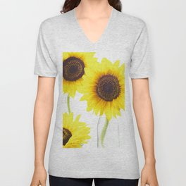 #Three  #Sunflowers for #decorativ #home #decors Unisex V-Neck