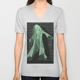 canterville ghost floating with chains Unisex V-Neck
