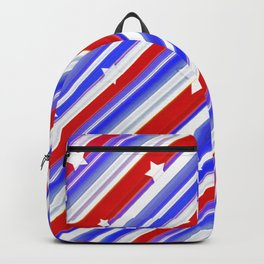 Usa Stars Design Colorful Abstract Motif  Backpack