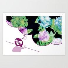 Mondai Gāru Art Print