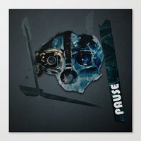 dishonored Canvas Prints featuring pause by emrento