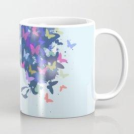 Woman Butterfly Coffee Mug