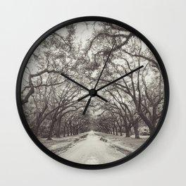 Spanish Moss, Savannah GA Wall Clock