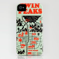 Twin Peaks Map Slim Case iPhone (4, 4s)