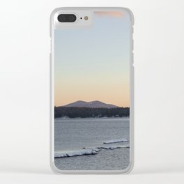 Lake and mountain Clear iPhone Case