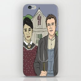 """American Gothic TwentyTwelve"" (ode to Facebook) iPhone Skin"