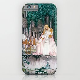Kay Nielsen - Prince Who Notices Lassi On The Tree Trying To Drink Water In The Fountain iPhone Case