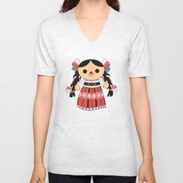 Maria 4 (Mexican Doll) Unisex V-Neck