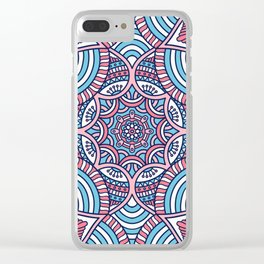 Batik Mandala Clear iPhone Case