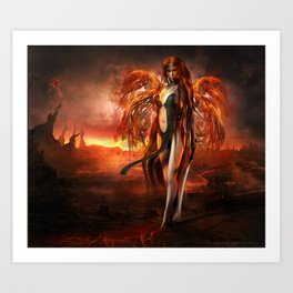 With fire Art Print