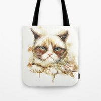 nope Tote Bags featuring Nope by beart24