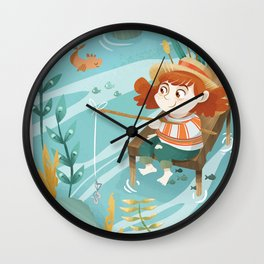 Giadina goes to fishing Wall Clock