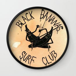 Black Bananas Surf Club Wall Clock