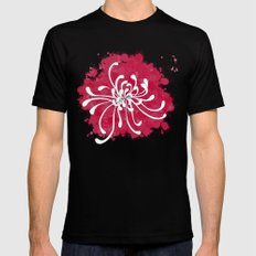 Chrysanthemum MEDIUM Mens Fitted Tee Black