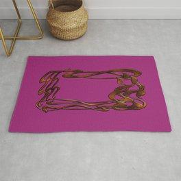Art Nouveau pink gold  Rug
