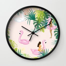 pink river Wall Clock