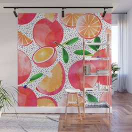 Citrus Love #digitalart #citrus Wall Mural