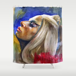 Woman in Music II Shower Curtain