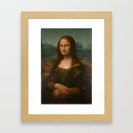 Mona Lisa Classic Leonardo Da Vinci Painting Framed Art Print