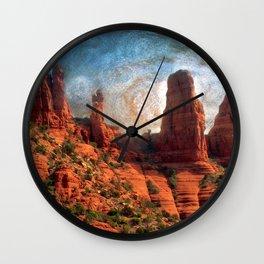 Van Goghs Sedona Vortex Wall Clock