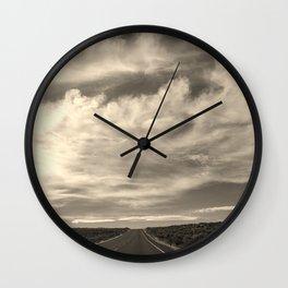 The Long Road Ahead Wall Clock