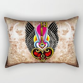 trad wing key heart Rectangular Pillow