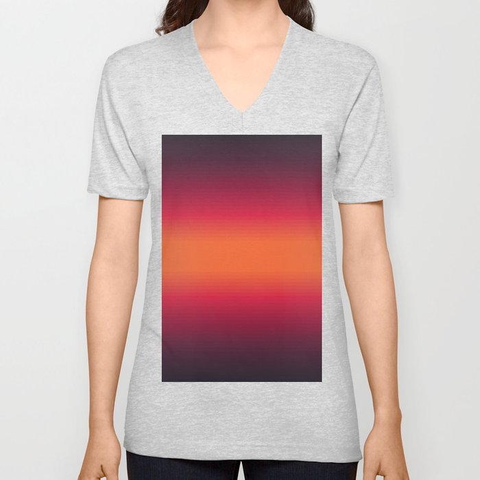 Sunset Tie Dye Gradient Colors Spectrum Harmony Unisex V-Neck