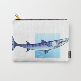 Blue Barracuda   sea life animals fish series Carry-All Pouch
