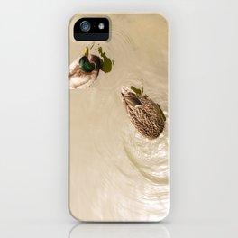Head under water iPhone Case