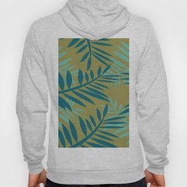 Big Fern Leaves yellow Hoody