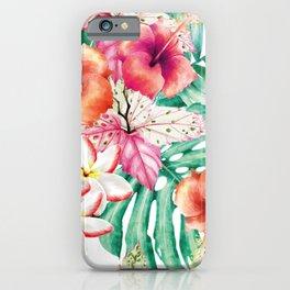 Hibicus Flowers Pattern iPhone Case