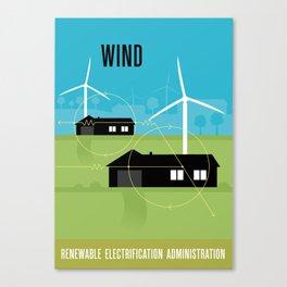 Renewable Electrification Administration - Wind Canvas Print