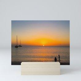 Saint Lucia Sunset on Sugar Beach Mini Art Print