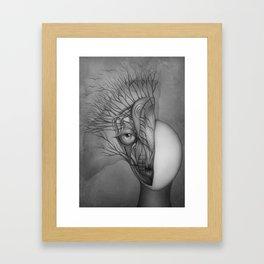 Inner world black & white Framed Art Print