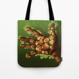 Handful Hand Full of Flowers - Drawing on Photo Tote Bag