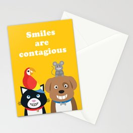 Smiles are Contagious Stationery Cards