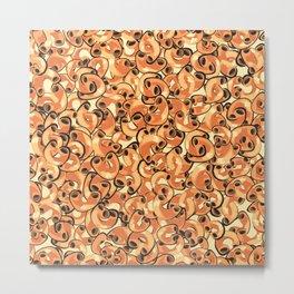 Mac & Cheese Pattern Metal Print