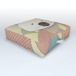 Whimsical Wombat Outdoor Floor Cushion