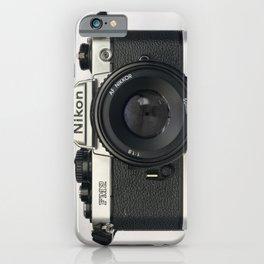 Classic chemicol retro camera. 35 mm format camera iPhone Case
