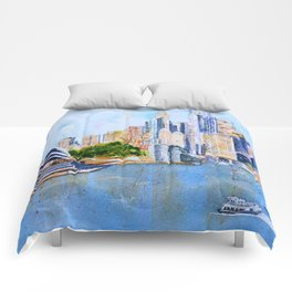 Colorful Sydney Harbor Comforters