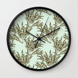 Seaweed Plant Wall Clock